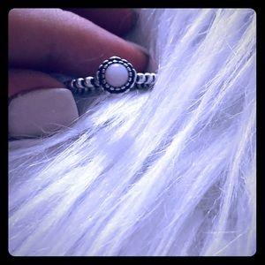 Pandora birthstone ring opal